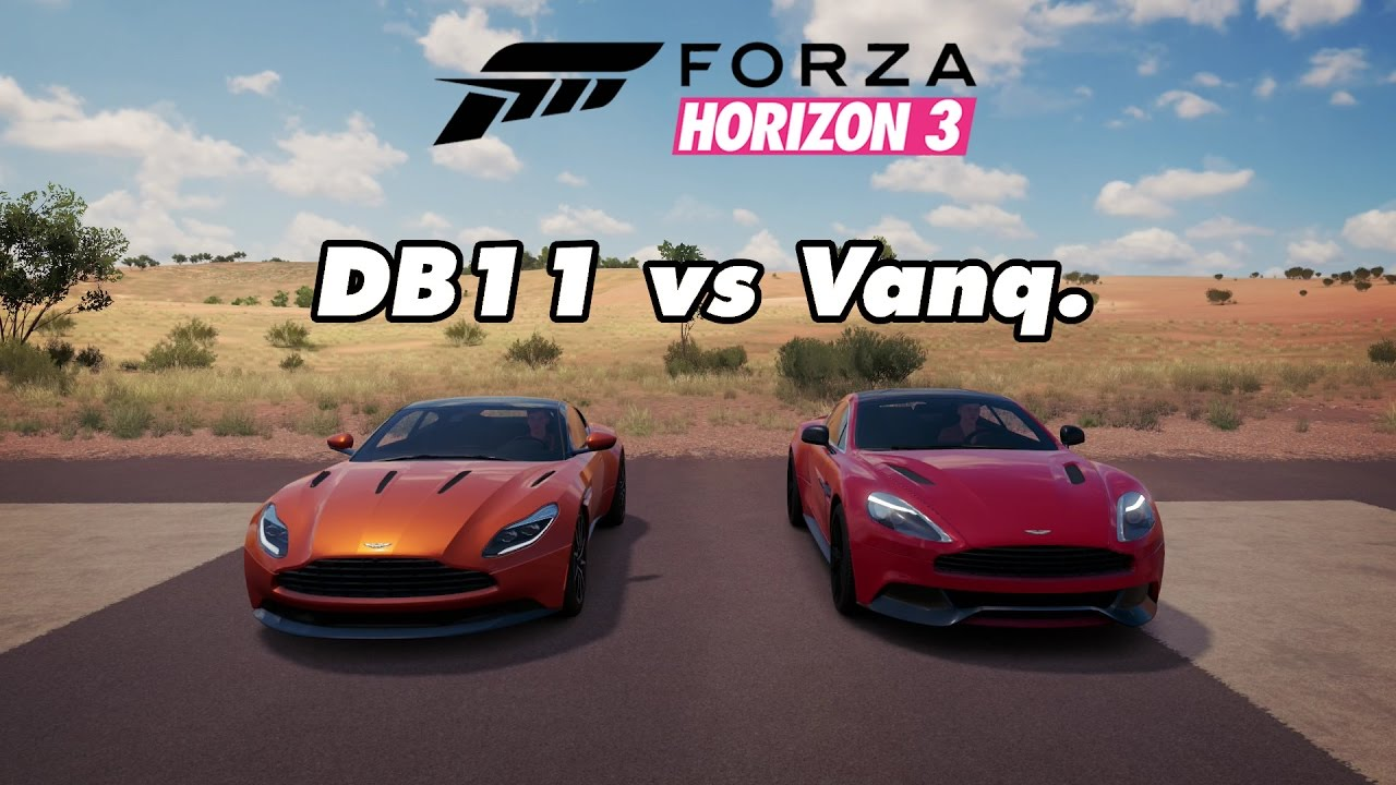 Forza Horizon 3 Drag Races 35 Aston Martin Db11 Vs Aston Martin Vanquish Youtube