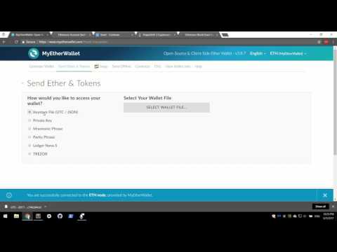 Ethereum: Getting Started with MyEtherWallet and How To Buy Tokens and Coins