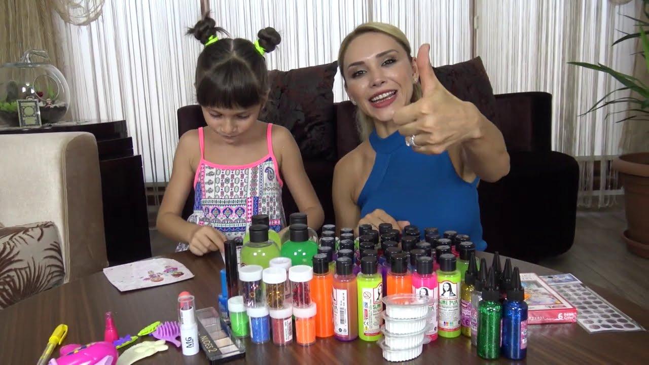 Lina İle Slime Alışverişimiz Ne Bulduysak Aldık