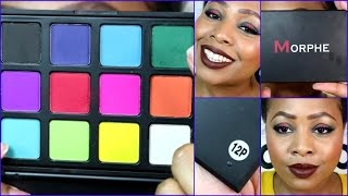 new morphe 12p eyeshadow palette review swatches makeup tutorial