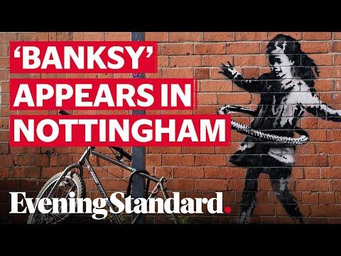 'Banksy' Artwork Appears On Brick Wall In Nottingham