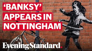 'Banksy' artwork appears on brick wall in Nottingham