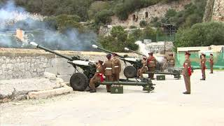 A 21 Royal Gun Salute Fired At Grand Battery House To Mark 71st Birthday Of The Prince Of Wales.