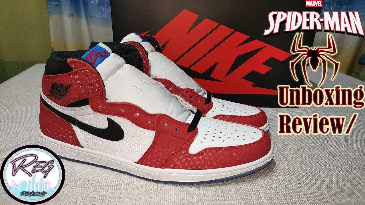 39e4a0fc06e2 Spiderman Jordans
