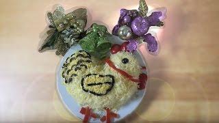 Салат на Новый год, пошаговый рецепт