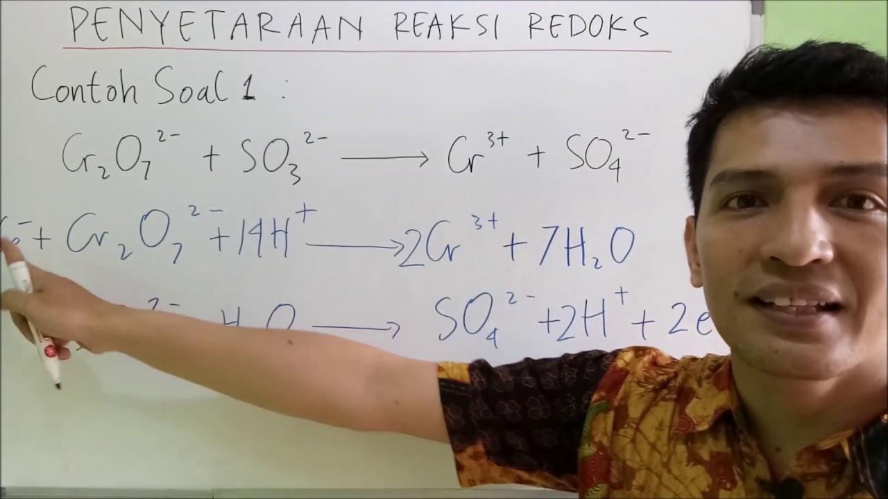 Contoh Soal 1 Penyetaraan Reaksi Redoks Youtube