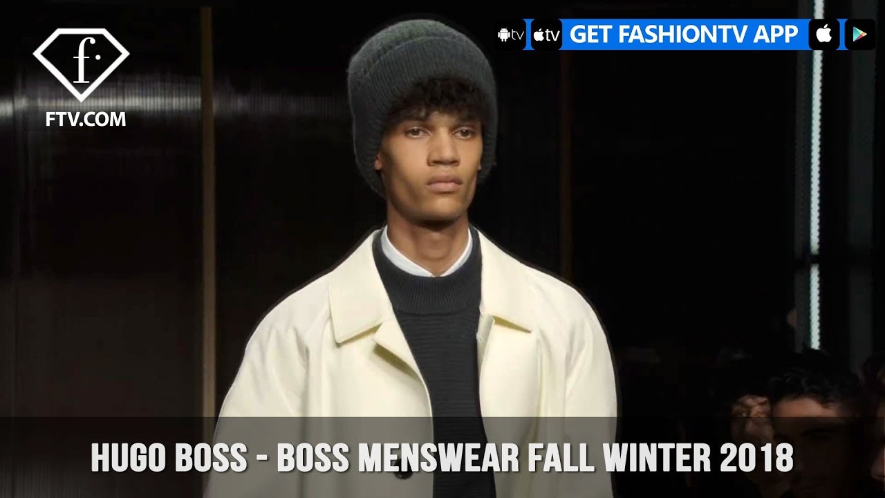 BOSS Menswear Fall Winter 2018 Runway Show at New York Fashion Week Mens    FashionTV   FTV c13421ac2e