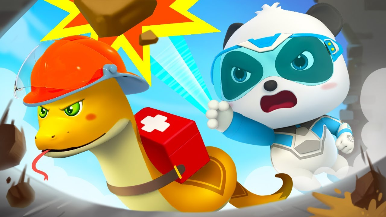 Earthquake, The Building is Collapsing | Super Rescue Team | Panda Cartoon | Kids Cartoon | BabyBus