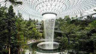 inside the new R19 billion complex at Singapore's Changi Airport - the Jewel