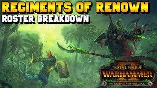Skaven & Lizardmen Legendary Lords + Regiments of Renown Breakdown | Total War: Warhammer 2