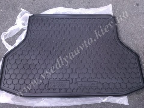 Коврик в багажник CHEVROLET Lacetti седан AVTO GUMM пластик резина