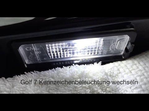 golf 7 vii kennzeichenbeleuchtung wechseln tauschen. Black Bedroom Furniture Sets. Home Design Ideas