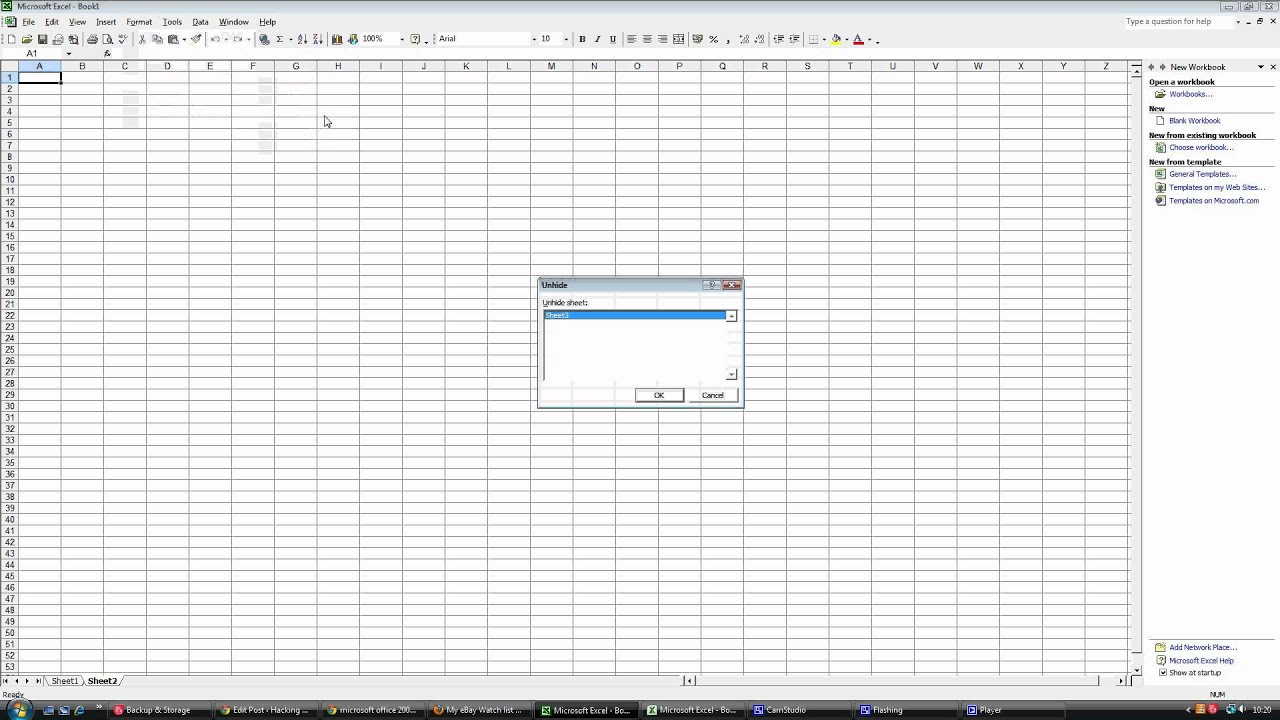 worksheet Unhide Worksheet In Excel 2010 unhide sheet in excel 2003 youtube 2003