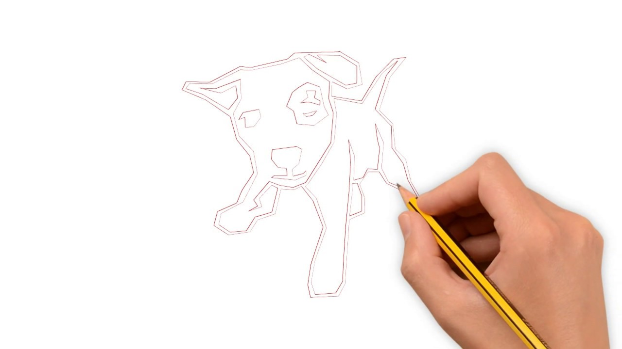 Fun drawing how to draw puppy dog with pencil easy dog drawing with pencil