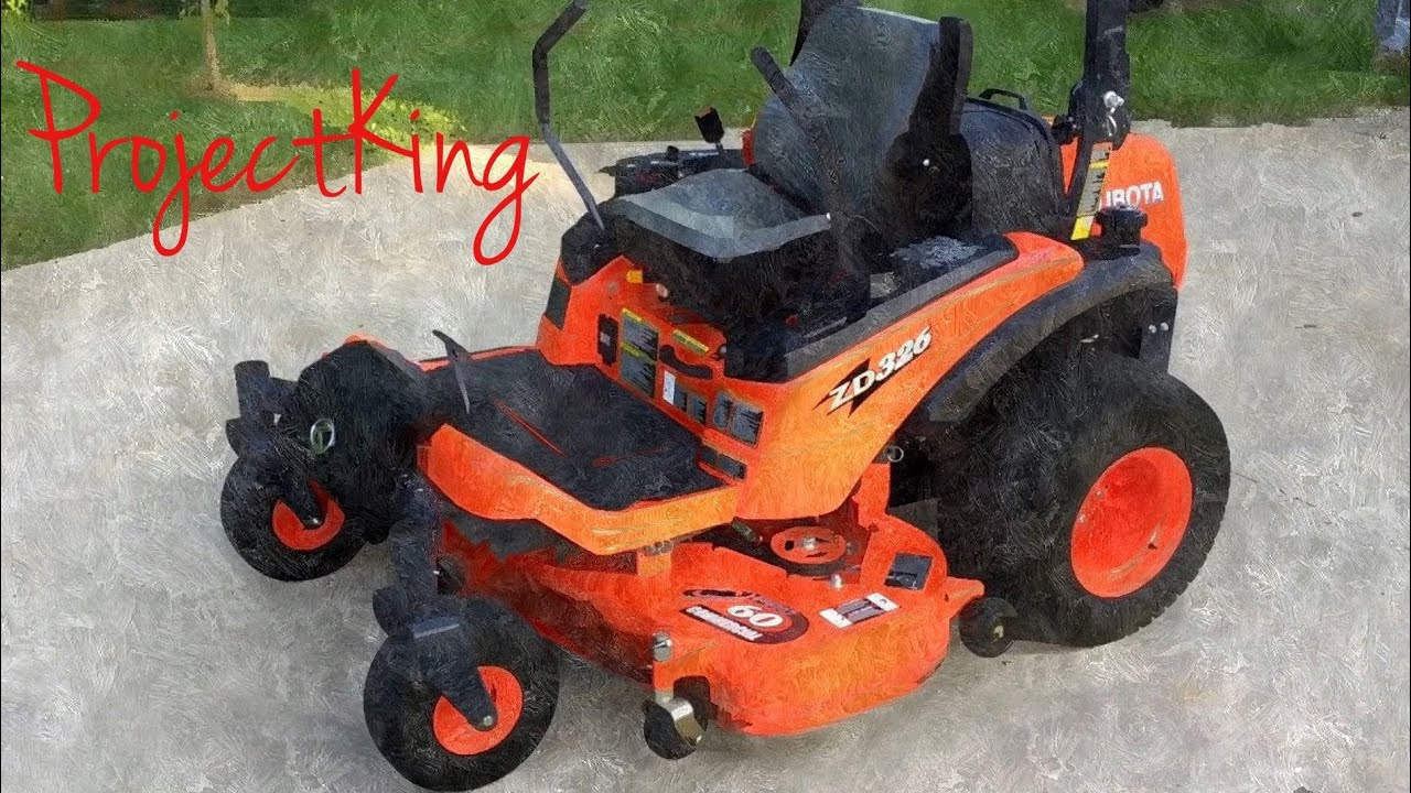 medium resolution of by the manual part 2 kubota zd326 100 hr service