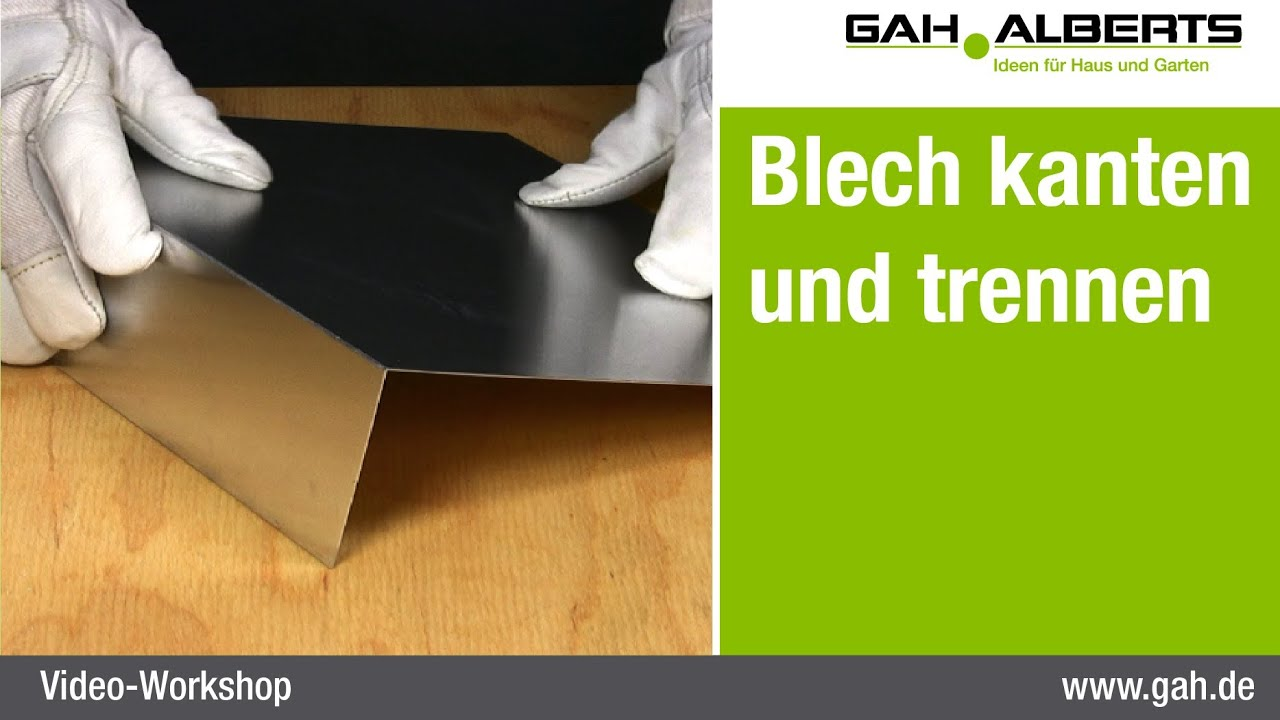 gah workshop alublech einfach trennen und abkanten youtube. Black Bedroom Furniture Sets. Home Design Ideas
