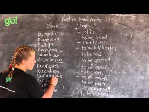 Video #19 - GO! presents: BEST Swahili Tutorials - -wa VERBS (Live from Tanzania)
