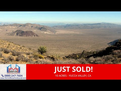Yucca Valley, CA -10 Acres Residential Vacant Land For Sale Owner Financing