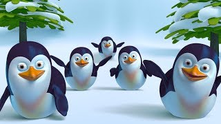 Five Little Penguins Song + More Funny Cute 3D Baby Penguin Songs by FunForKidsTV