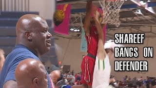 shareef o neal bangs on defender in front of pops top plays day 1 of nike eybl atlanta
