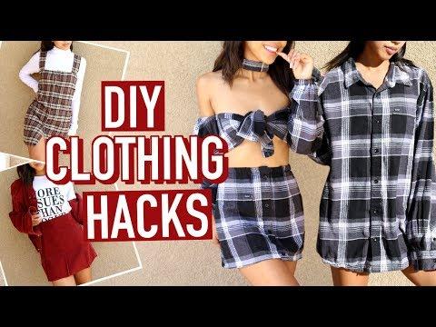 FLEX ON YOUR EX: 3 DIY FLANNEL SHIRT CLOTHING HACKS! | DIY | Nava Rose