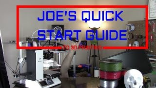 Quick Start Guide to 3D Printing! Plastics, Printers Parts, and More!
