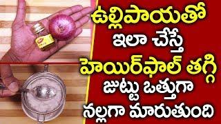 ఉల్లిపాయను ఇలా వాడితే I Hair Growth I How to Use Onion for Hair Growth Telugu I Everything in Telugu