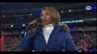 Queen Latifah singing 'America the Beautiful' at the Super Bowl