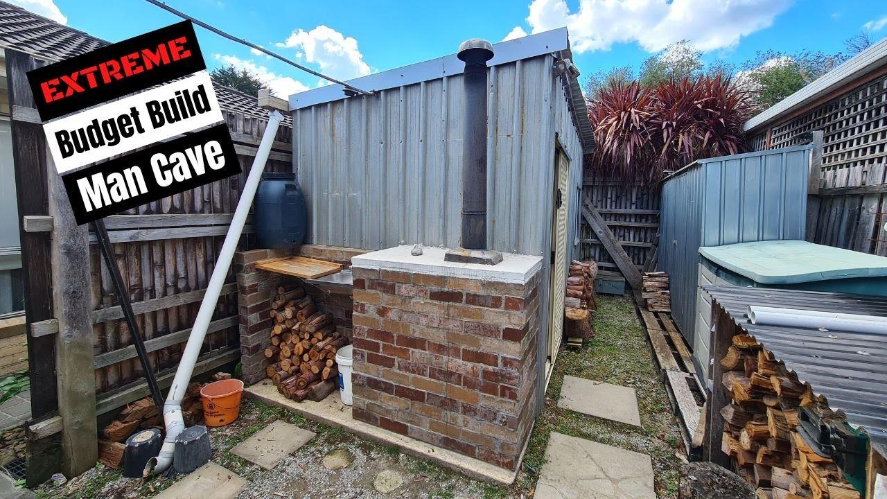 Diy Man Shed On A Budget Tiny Cave Australia Tour Walkthrough Australian Ideas Youtube