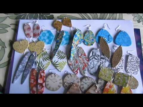 Handmade Jewelry - Cardboard Paper Earrings (Album 5 - Not Tutorial)