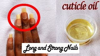 BEST Cuticle Oil for Nail Growth | Strong and Long Nails
