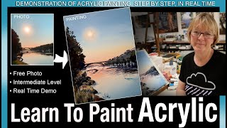 Learn to Paint Acrylic for Intermediate Level Artists: Demonstration of painting in real time.