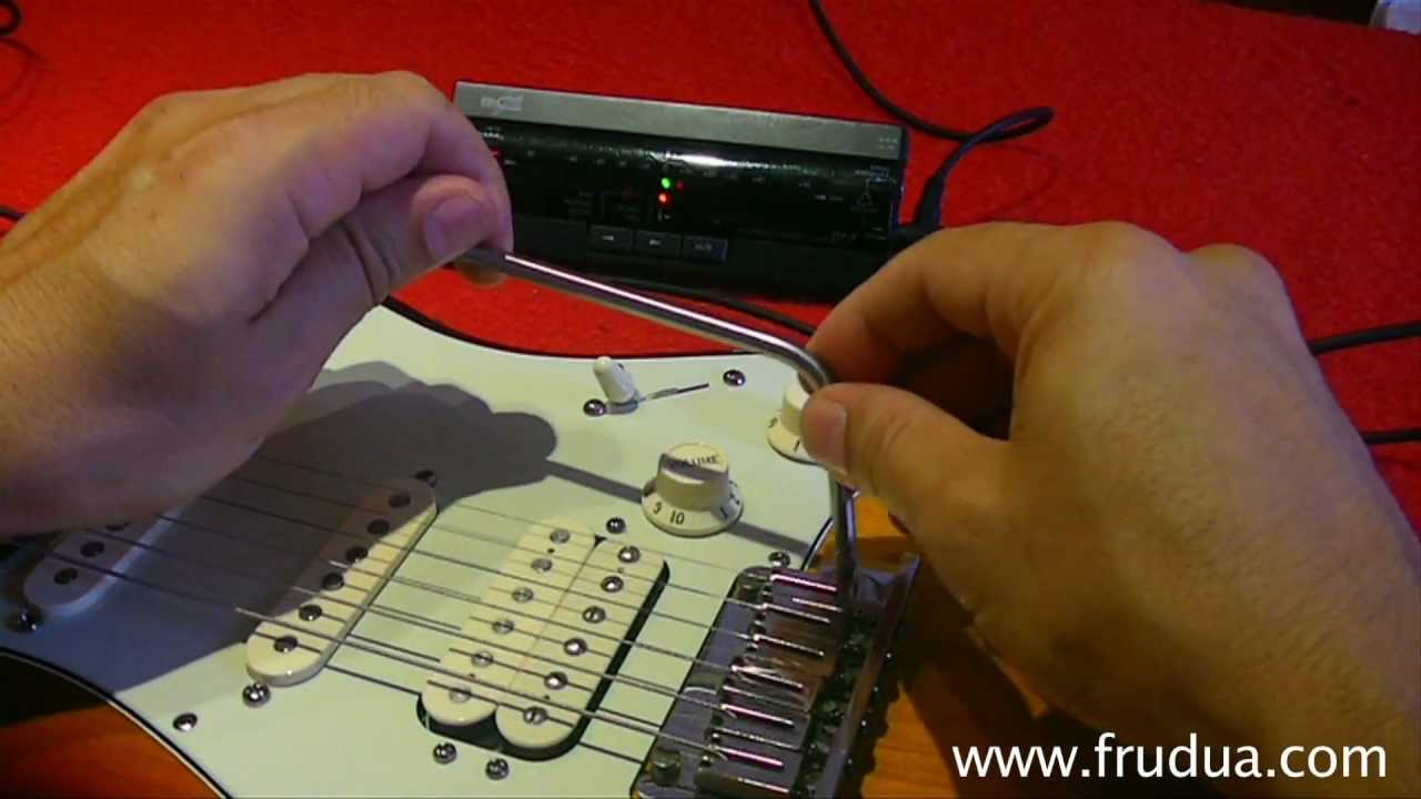 How To Set Up A Strat Floating Tremolo Two Pivots Whammy Squier Stratocaster Wiring Diagram One Volume Tone For Hss Bar Youtube
