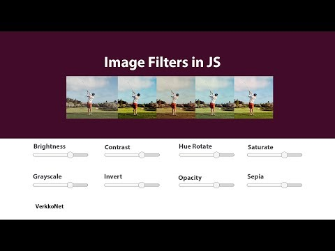 Image Filters In JS | JavaScript Tutorials | Web Development Tutorials