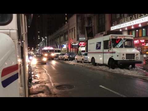 FDNY ENGINE 26 RESPONDING ON WEST 40TH STREET IN THE MIDTOWN AREA OF MANHATTAN IN NEW YORK CITY.