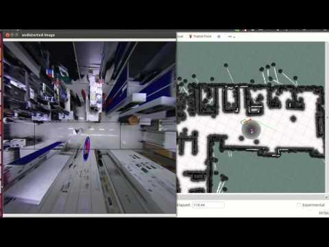 Human-Aware Navigation using External Omnidirectional Cameras - Experiment 1 (Realistic Scenario)