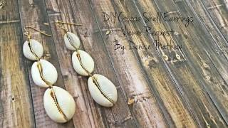 How to Make DIY Cowrie Shell Earrings by Denise Mathew ( Viewers Request)