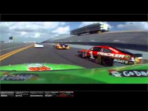 Danica Patrick onboard Daytona duel #1 2012 JOE.flv