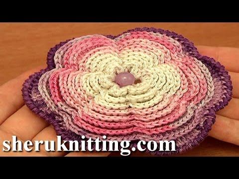 Crochet Large Multi Layered Flower Tutorial 87 Youtube