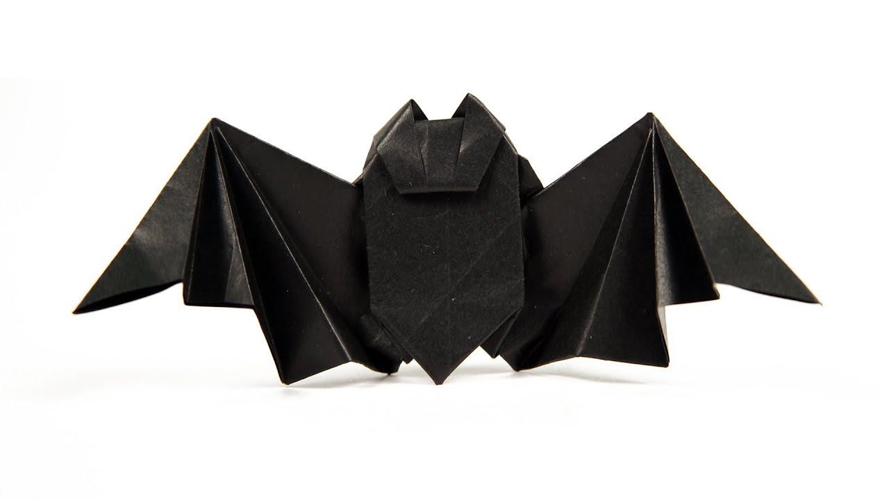 3d origami bat diy learn origami how to make easy