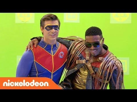BTS of the Henry Danger & Game Shakers Crossover! | Danger Games | Nick