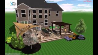 3d Outdoor Living Design W/build In Bar And Outdoor Fire Place - Ohio Residence