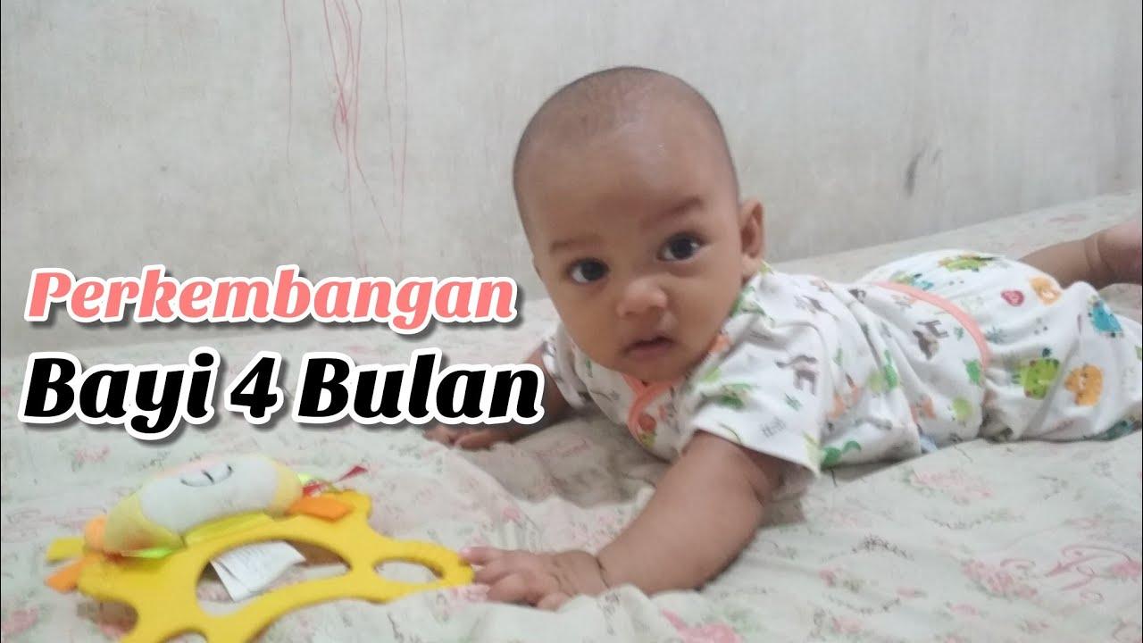 Perkembangan Bayi Usia 4 Bulan Tengkurap Tersenyum Tertawa Mengoceh Youtube