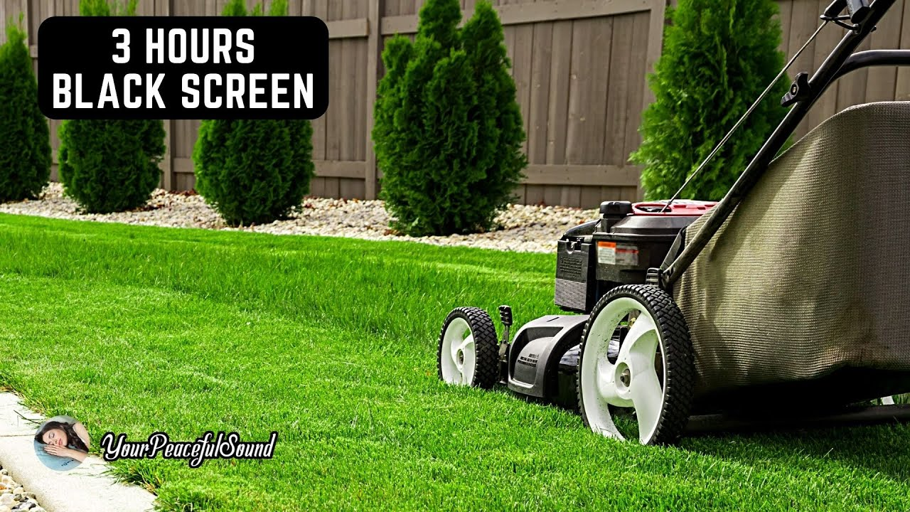 Lawnmower Engine Sound   White Noise Sounds   Relax, Sleep, Calm, Soothe a Baby   3H Black Screen