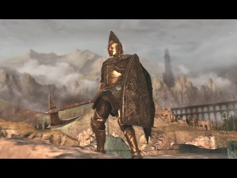 Dark Souls 2 PVP - Dragonslayer's Crescent Axe and Mastodon Halberd