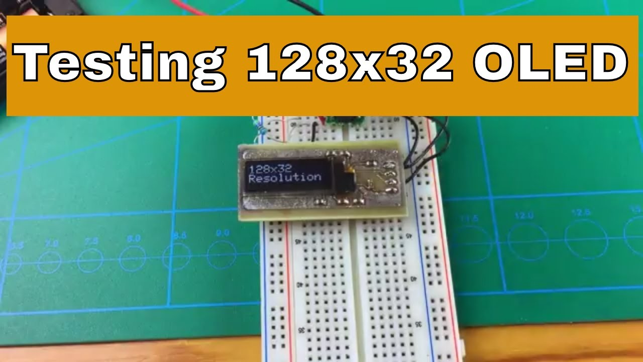 SSD1306 128x32 I2C OLED |From ICStation com - YouTube