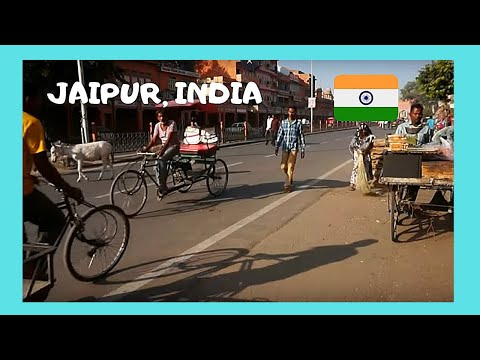 INDIA: graphic scene, the daily life in the streets of JAIPUR (the PINK CITY)