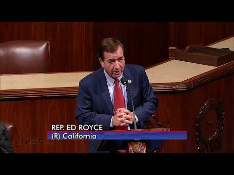 Rep. Royce Speaks on the House Floor in Support of 21st Century Flood Reform Act
