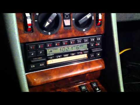 1970 Becker Mexico AM-FM Cassette Car Radio showing ope...   Doovi
