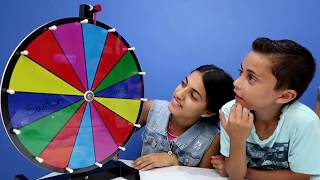 MYSTERY WHEEL OF SLIME GLOVES CHALLENGE!! Family Fun Video